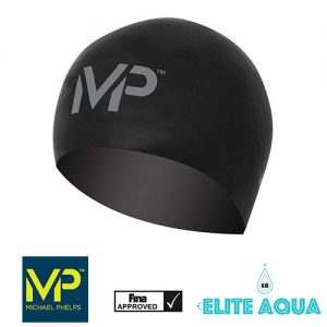 MP Michael Phelps Race Caps Black/Silver 黑銀 賽帽