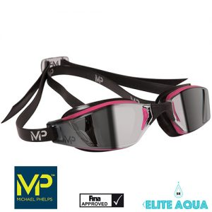 MP Michael Phelps XCEED Ladies Mirrored Goggles Pink/Black賽鏡