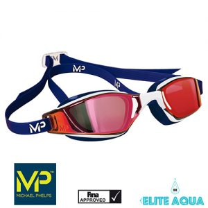MP Michael Phelps XCEED Mirrored Goggles Red/White/Blue賽鏡