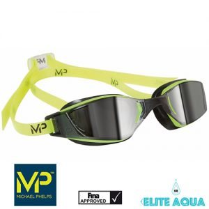 MP Michael Phelps XCEED Mirrored Goggles Yellow/Black 賽鏡