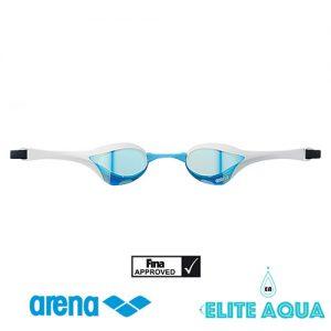 Arena AGL-180M Cobra-Ultra 比賽用泳鏡/ 有膠邊/ 反光鏡 (藍白色)