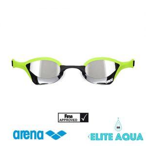 Arena AGL-180M Cobra-Ultra 比賽用泳鏡/ 有膠邊/ 反光鏡 (綠色)