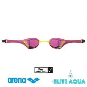 Arena AGL-180M Cobra-Ultra 比賽用泳鏡/ 有膠邊/ 反光鏡 (粉紅色)