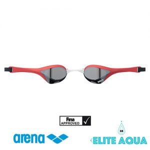Arena AGL-180M Cobra-Ultra 比賽用泳鏡/ 有膠邊/ 反光鏡 (紅色)