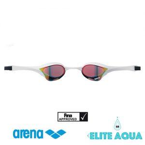 Arena AGL-180M Cobra-Ultra 比賽用泳鏡/ 有膠邊/ 反光鏡 (白色)