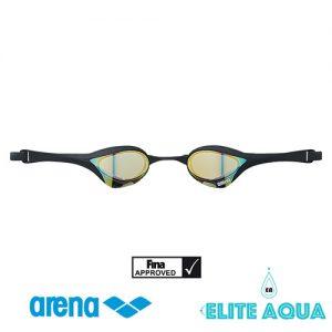 Arena AGL-180M Cobra-Ultra 比賽用泳鏡/ 有膠邊/ 反光鏡 (黑色)