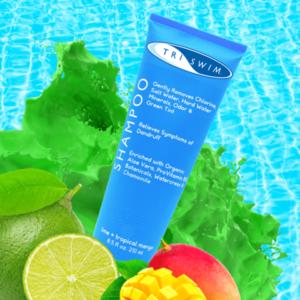 美國TRISWIM 游泳專用去氯氣洗頭水8.5oz- (青檸 + 熱帶芒果)
